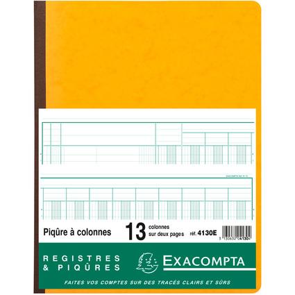 EXACOMPTA Piqûre à colonnes, 13 colonnes, 33 lignes