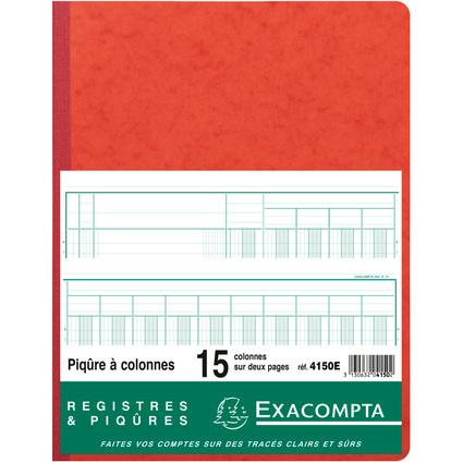 EXACOMPTA Piqûre, 15 colonnes sur 2 pages, 33 lignes