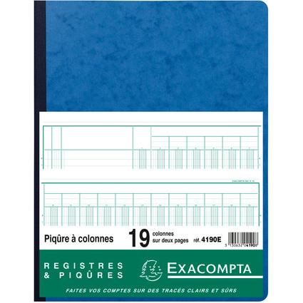 EXACOMPTA Piqûre à colonnes, 19 colonnes, 33 lignes