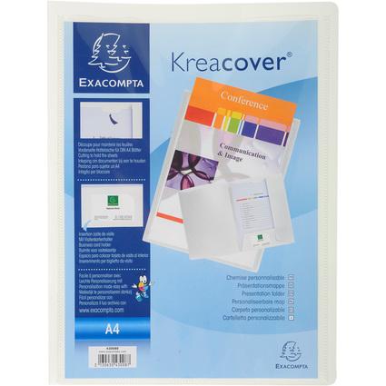 EXACOMPTA Präsentationsmappe Kreacover, PP, A4, weiß