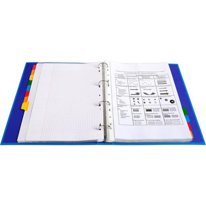 EXACOMPTA Karton-Register, DIN A4 Überbreite, 12-teilig