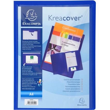 EXACOMPTA Präsentationsmappe Kreacover, PP, A4, blau