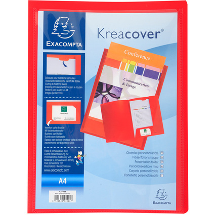 EXACOMPTA Präsentationsmappe Kreacover, PP, A4, rot