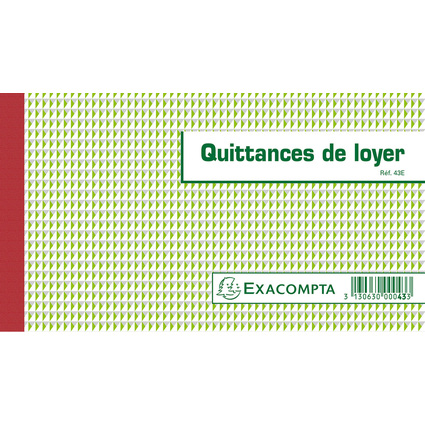 "EXACOMPTA Manifold ""Quittances de loyer"", 125 x 210 mm"