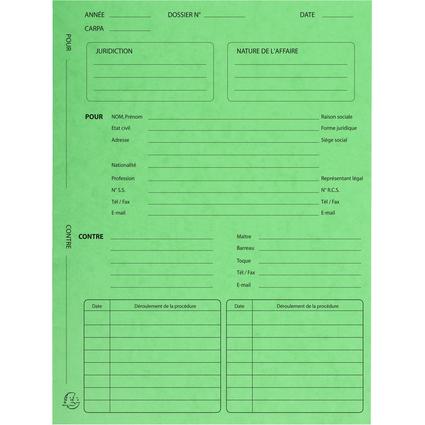 EXACOMPTA Dossiers de procédure, vert