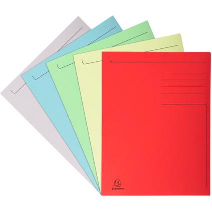 EXACOMPTA Aktenmappe, DIN A4, Karton, farbig sortiert