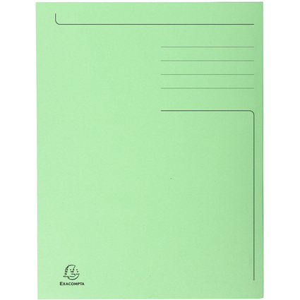 EXACOMPTA Aktenmappe, DIN A4, Karton, pastellgrün