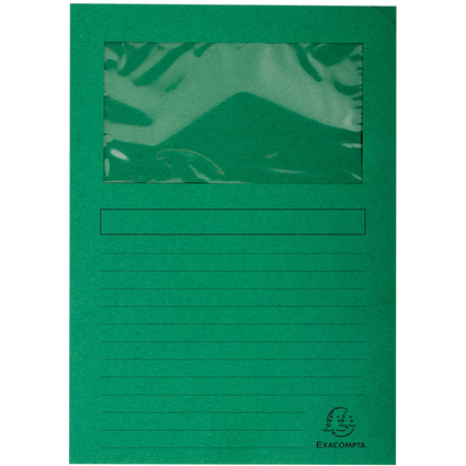 EXACOMPTA Sichtmappe FOREVER, DIN A4, 120 g/qm, dunkelgrün