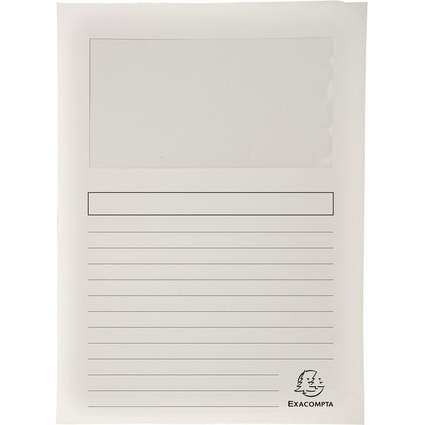 EXACOMPTA Sichtmappe FOREVER, DIN A4, 120 g/qm, weiß