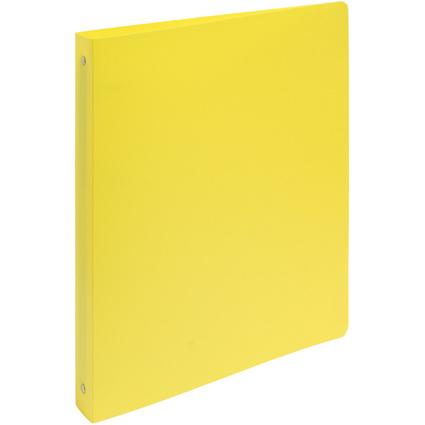EXACOMPTA Ringbuch, 4 Ring-Mechanik, DIN A4, gelb