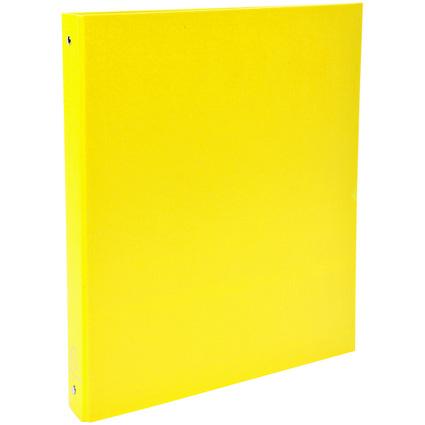 EXACOMPTA Ringbuch, 4-Ring-Mechanik, DIN A4, gelb