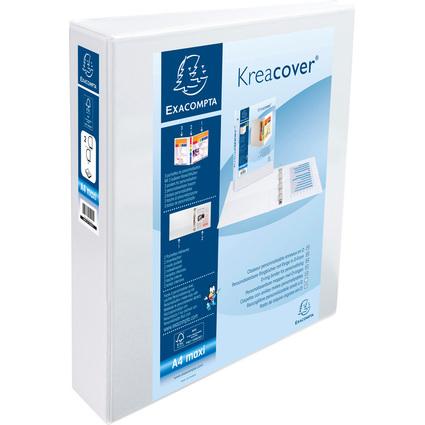 EXACOMPTA Präsentations-Ringbuch, A4 Maxi, weiß, 2D-Ring