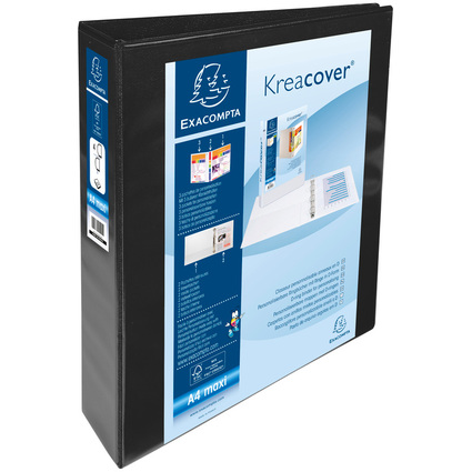 EXACOMPTA Präsentations-Ringbuch, A4 Maxi, schwarz, 4D-Ring