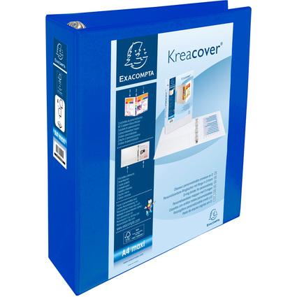 EXACOMPTA Präsentations-Ringbuch, A4 Maxi, blau, 4D-Ring