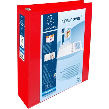 EXACOMPTA Präsentations-Ringbuch, A4 Maxi, rot, 4D-Ring