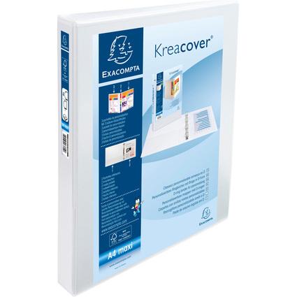 EXACOMPTA Präsentations-Ringbuch, A4 Maxi, weiß, 4D-Ring