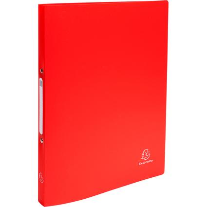 EXACOMPTA Ringbuch PP, 2-Ring-Mechanik, DIN A4, rot