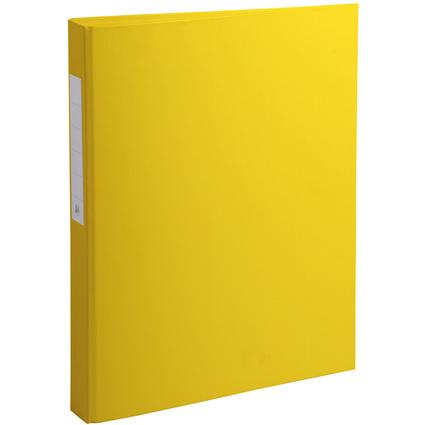 EXACOMPTA Ringbuch PP, 2-Ring-Mechanik, DIN A4, gelb