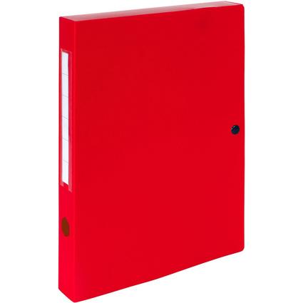EXACOMPTA Archivbox mit Druckknopf, PP, 40 mm, rot