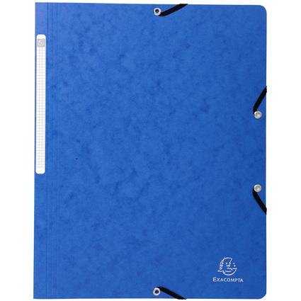 EXACOMPTA Eckspannermappe, DIN A4, Karton, blau