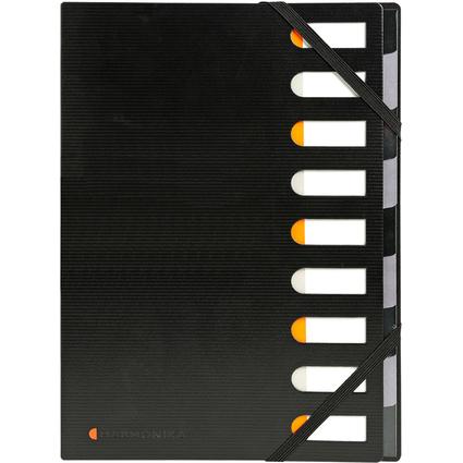 EXACOMPTA Ordnungsmappe Exactive, PP, 9 Fächer, schwarz