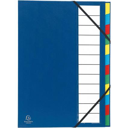 EXACOMPTA Ordnungsmappe Harmonika, PP, 12 Fächer, blau