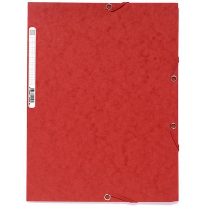 EXACOMPTA Eckspannermappe, DIN A4, Karton 400 g/qm, rot