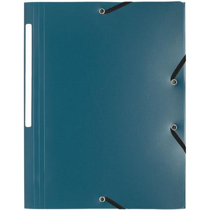 EXACOMPTA Eckspannermappe, DIN A4, PP, dunkelgrün