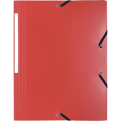 EXACOMPTA Eckspannermappe, DIN A4, PP, rot