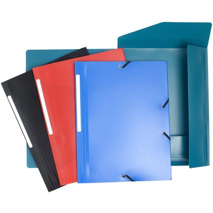 EXACOMPTA Eckspannermappe, DIN A4, PP, farbig sortiert