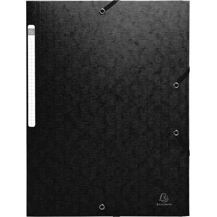 EXACOMPTA Sammelmappe, aus Karton, 425 g/qm, schwarz