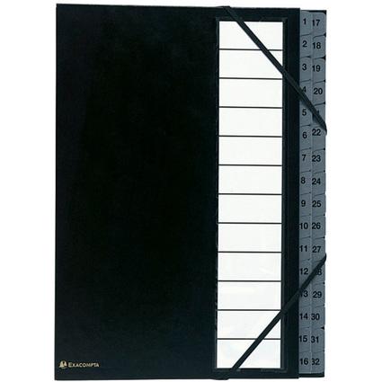 EXACOMPTA Ordnungsmappe Ordonator, A4, 32 Fächer, schwarz