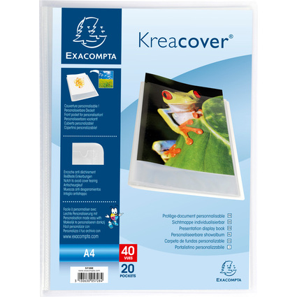 EXACOMPTA Sichtbuch, DIN A4, PP, kristall