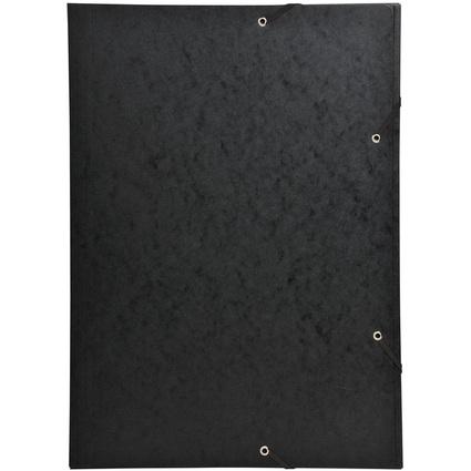 EXACOMPTA Eckspannermappe, DIN A3, Karton, schwarz