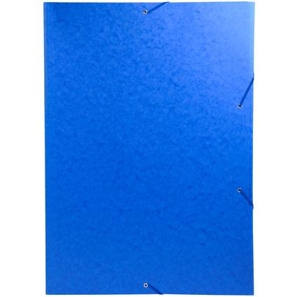 EXACOMPTA Eckspannermappe, DIN A3, Karton, blau