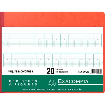 EXACOMTA Spaltenbuch, 20 Spalten auf 2 Seiten, 24 Zeilen