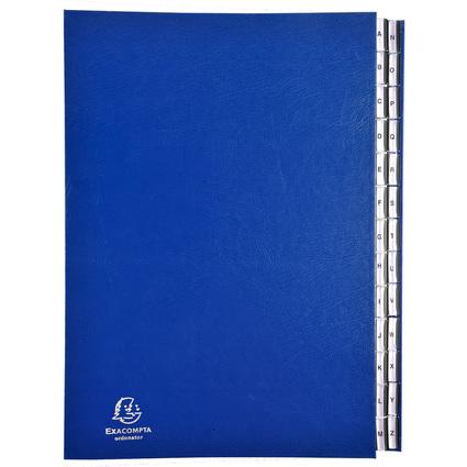 EXACOMPTA Ordnungsmappe Ordonator, A4, A-Z, 26 Fächer, blau