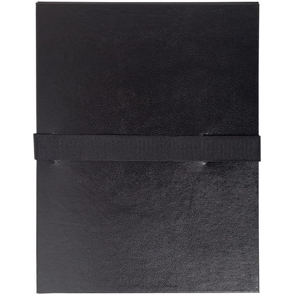EXACOMPTA Dokumentenmappe mit Klettverschluss, schwarz