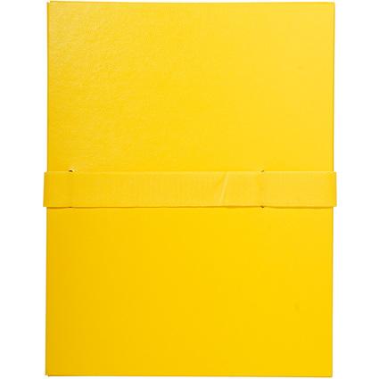 EXACOMPTA Dokumentenmappe mit Kettverschluss, gelb