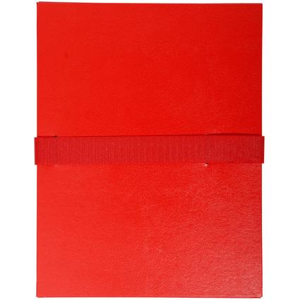 EXACOMPTA Dokumentenmappe mit Kettverschluss, rot