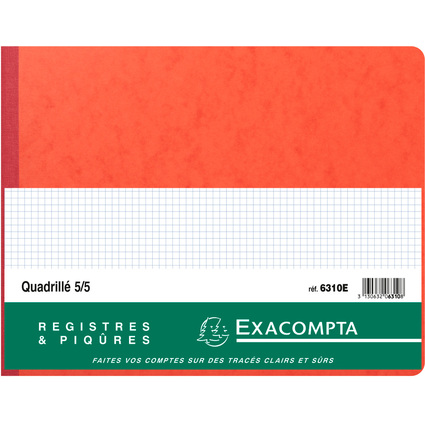 EXACOMPTA Registre Quadrillé 5x5, 250 x 320 mm horizontal