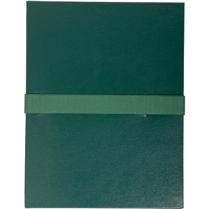EXACOMPTA Dokumentenmappe mit Klettverschluss, dunkelgrün
