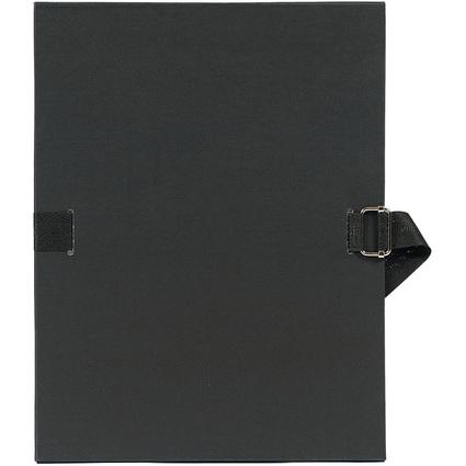 EXACOMPTA Dokumentenmappe, DIN A4, Karton, schwarz