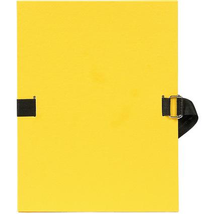 EXACOMPTA Dokumentenmappe, DIN A4, Karton, gelb