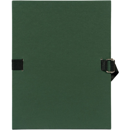 EXACOMPTA Dokumentenmappe, DIN A4, Karton, dunkelgrün