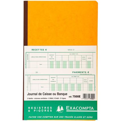 """EXACOMPTA Piqûre """"Journal de caisse ou banque"""", 320 x 195 mm"""
