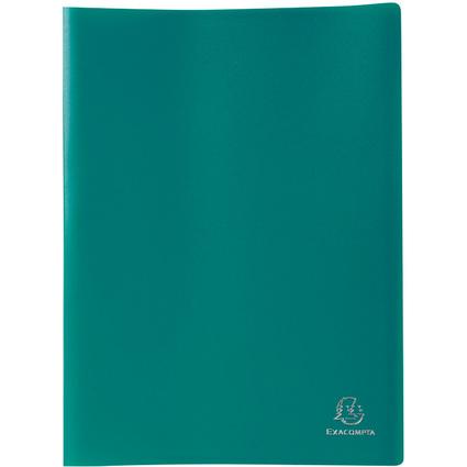 EXACOMPTA Sichtbuch, DIN A4, PP, 100 Hüllen, dunkelgrün