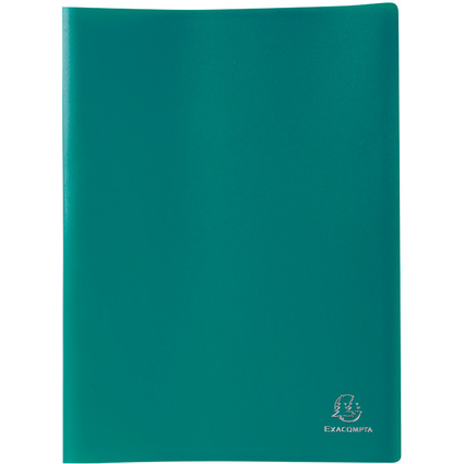 EXACOMPTA Sichtbuch, DIN A4, PP, 50 Hüllen, dunkelgrün