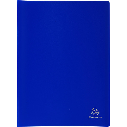 EXACOMPTA Sichtbuch, DIN A4, PP, 50 Hüllen, blau
