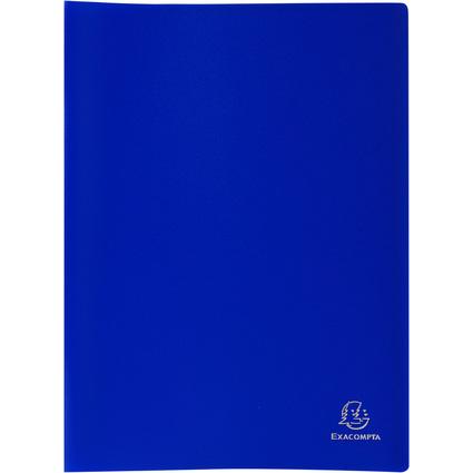 EXACOMPTA Sichtbuch, DIN A4, PP, 60 Hüllen, blau